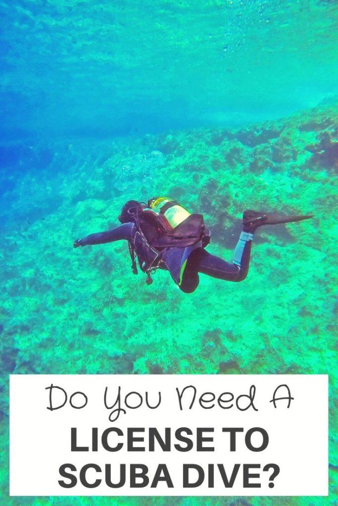 Do You Need A License To Scuba Dive