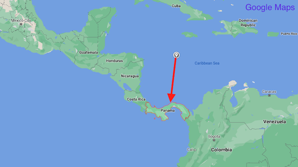 Panama on the map