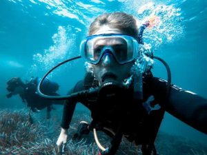 diver diving