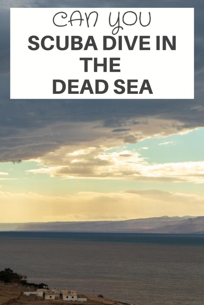 scuba dive in the dead sea